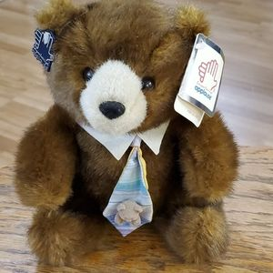 Applause brown bear with tie